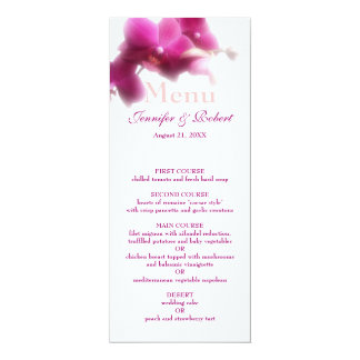 Pink Wedding Menu Card