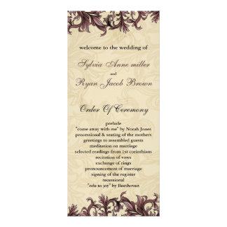 pink Wedding program Rack Cards