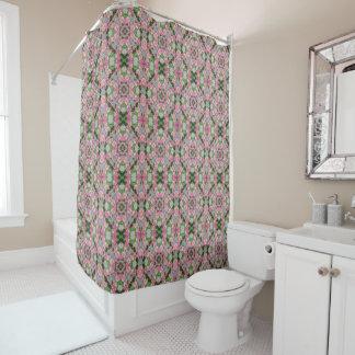 Pink Wedding Quilt Mandala Shower Curtain