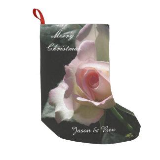 Pink Wedding Rose Small Christmas Stocking