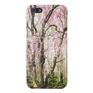 Pink Weeping Willow With American Flag iPhone Case Case For The iPhone 5
