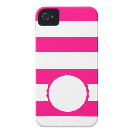 Pink Weis touched mono gram personalizes iPhone 4 Cover