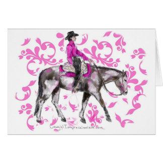 Pink Western Greeting Card