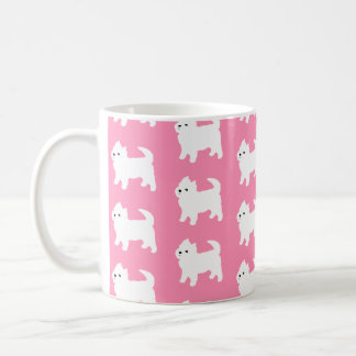 Pink Westie Pattern - West Highland Terrier Dogs Coffee Mug