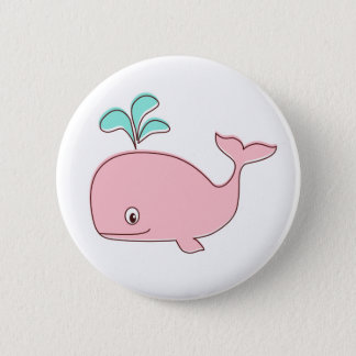 Pink Whale Button