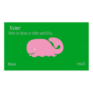 Pink Whale Mommy Card Business Card Templates