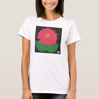 Pink WHIMSICAL FLOWER White Women's SS T-Shirt