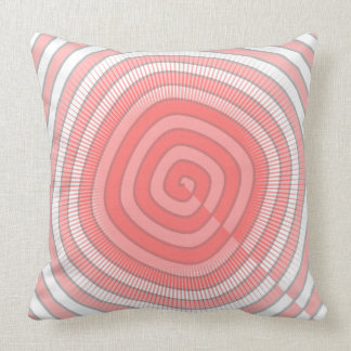 Pink/White Abstract Pattern Throw Pillow
