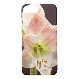 Pink white amaryllis flower iPhone 7 case