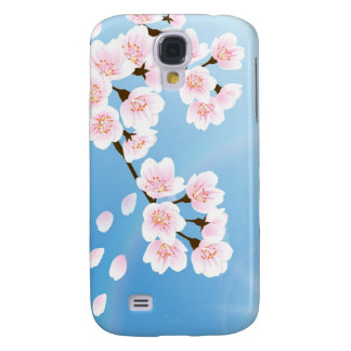 Pink White And Blue Cherry Blossom