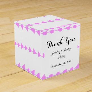 Pink White Aztec Arrows Pattern Party Favor Box