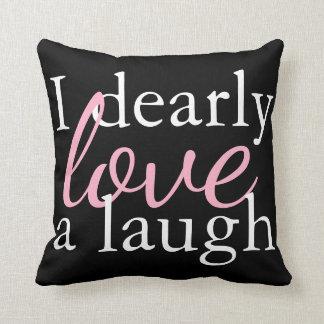 Pink, White, Black Pillow | Jane Austen Book Quote