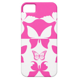 Pink & White Butterfly Pattern 1 iPhone 5 Cases
