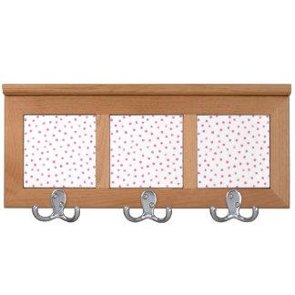 Pink White Confetti Dots Pattern Coat Racks