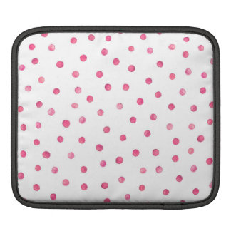 Pink White Confetti Dots Pattern iPad Sleeves