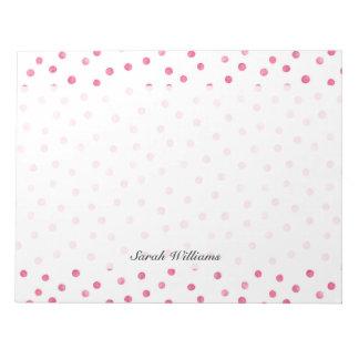 Pink White Confetti Dots Pattern Notepads