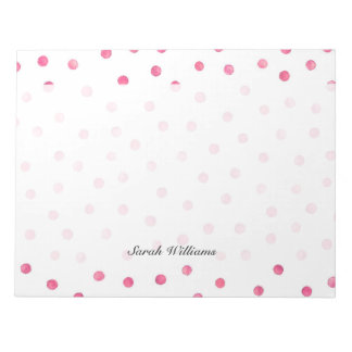 Pink White Confetti Dots Pattern Notepads