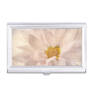 Pink White Daisy Flower Daisies Flowers Floral Business Card Case