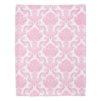 Pink & White Damask Pattern{pick your color} Duvet Cover