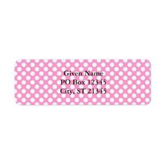 Pink & White Dots