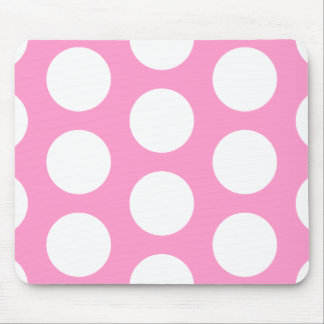 Pink & White Dots Mouse Pad