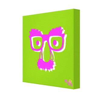 PINK WHITE FACE CANVAS PRINT