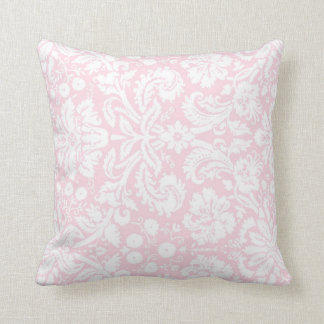Pink White Floral Decorative Pillow