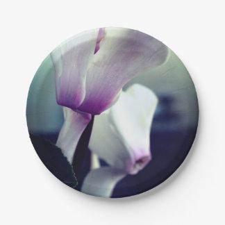 Pink White  Flowers Photo Custom Paper Plates