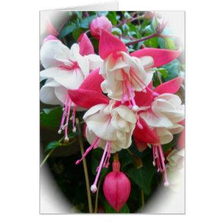 Pink & White Fuschia Card