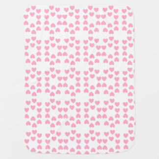 Pink White Hearts Baby Blanket