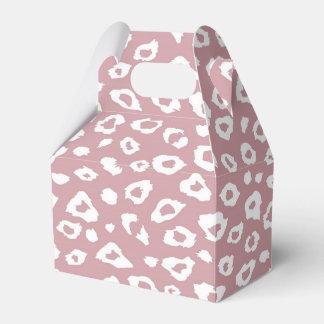 Pink White Leopard Print Favor Box