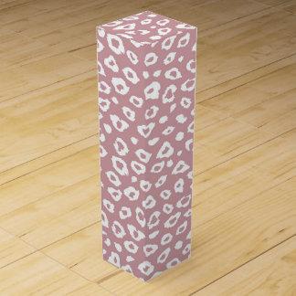Pink White Leopard Print Wine Box