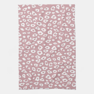 Pink White Leopard Print Hand Towel