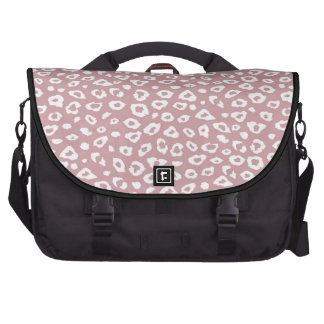 Pink White Leopard Print Bags For Laptop