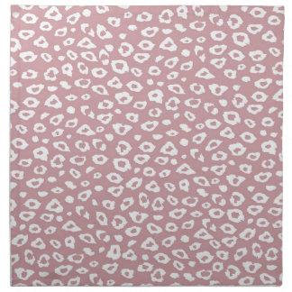 Pink White Leopard Print Napkin