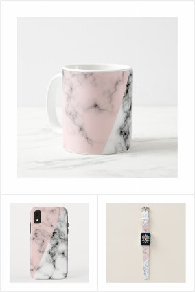PINK/WHITE MARBLE