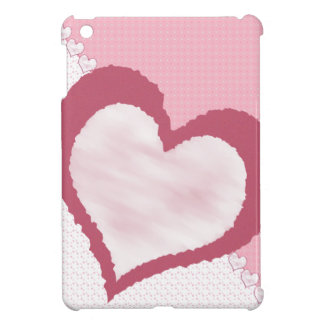 Pink White Mauve multi pattern with hearts iPad Mini Cases