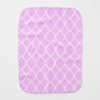 Pink white moroccan girly trendy modern elegant baby burp cloth