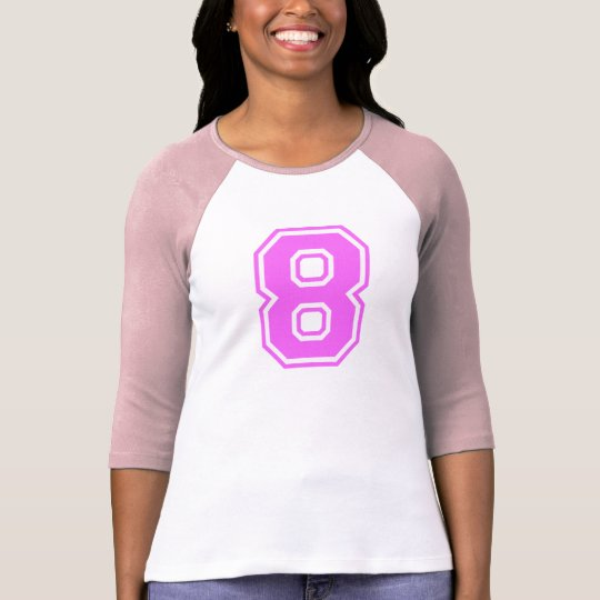 PINK & WHITE NUMBER 8 T-Shirt
