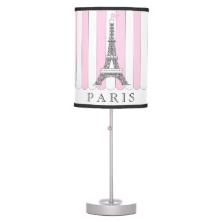 Pink | White Paris Eiffel Tower Table Lamp