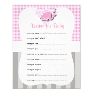 Pink & White Plaid and Gray Stripes   - Wishes Flyer