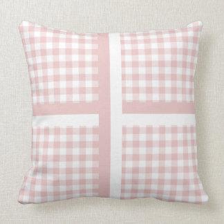 Pink White Plaid Stripe Pillow