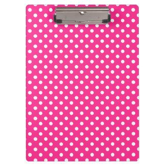 Pink & White Polka Dot Clipboard