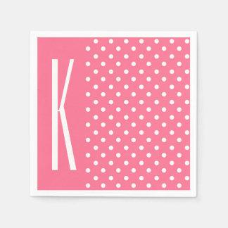 Pink & White Polka Dots Paper Napkin