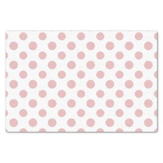 Pink White Polka Dots Pattern Tissue Paper