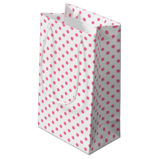 Pink & White Polkadots Gift Bag