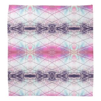 Pink, White, Purple And Blue Abstract Pattern Bandana