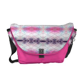 Pink, White, Purple And Blue Abstract Pattern Commuter Bag