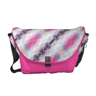 Pink, White, Purple And Blue Abstract Pattern Courier Bag