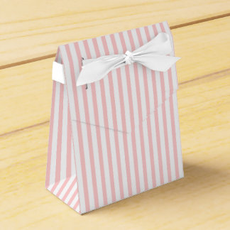 Pink, white striped pattern custom wedding favor boxes
